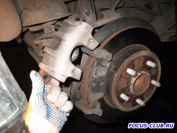 Замена тормозных колодок форд фокус 2 задних 186