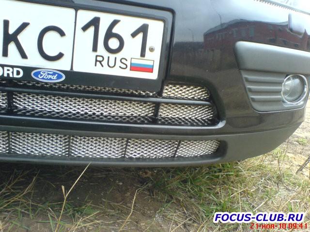 Защитная сетка радиатора Ford Focus 2 дорестайлинг - DSC00101.jpg